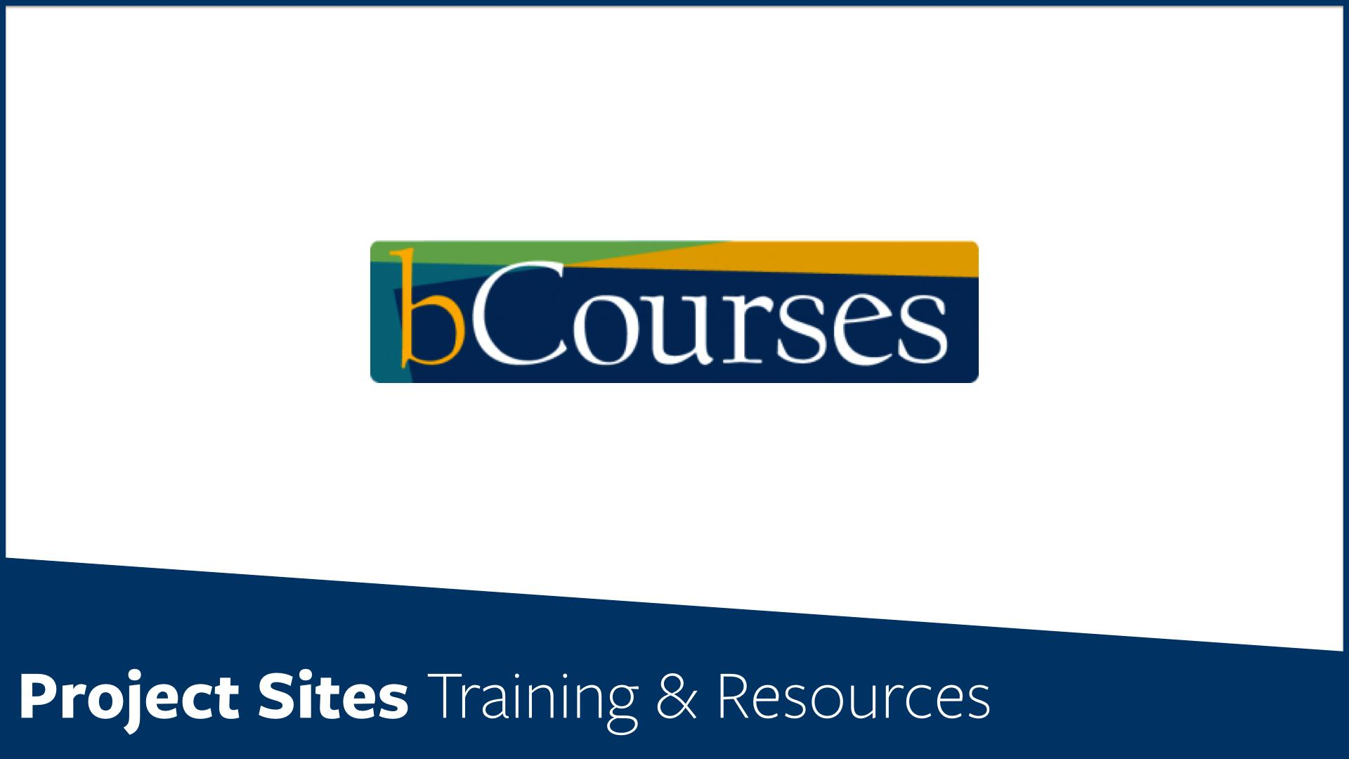 bCourses Training Information