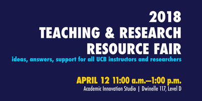 Banner for Teaching and Research Resource Fair (2nd annual AIS-palooza)