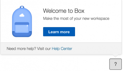 Box User Tour Available through Berkeley Box site